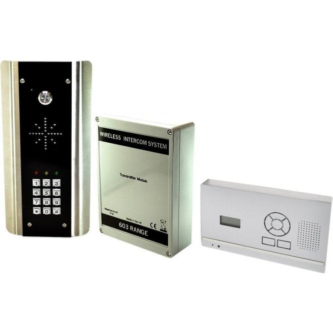 AES 603-HF-ABK D.E.C.T. Wireless Digital Intercom with wall mounted audio monitor