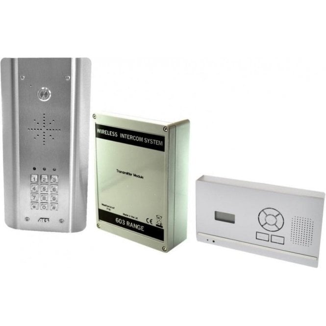 AES 603-HF-ASK D.E.C.T. Wireless Digital Intercom with wall mounted monitor