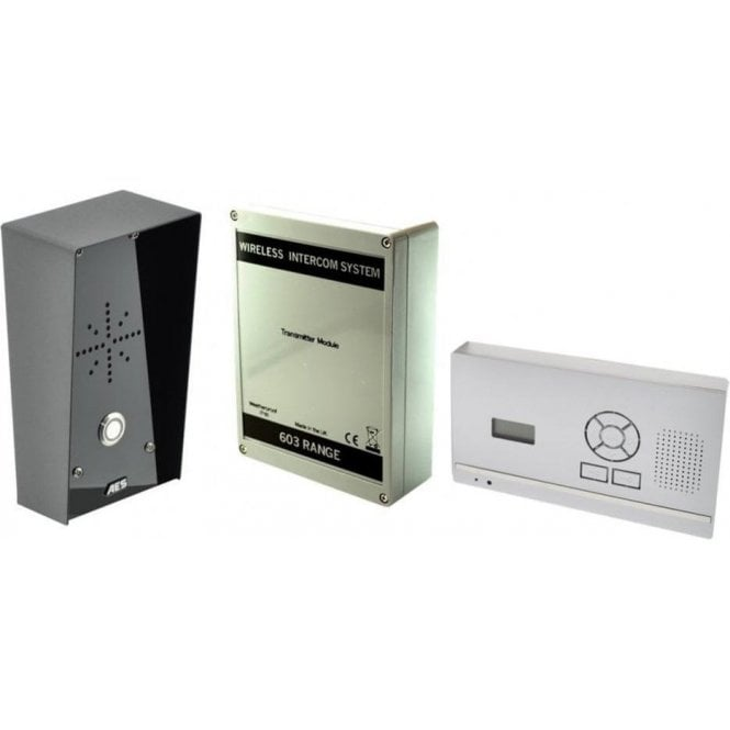 AES 603-HF-IMP D.E.C.T. Wireless Digital Intercom with wall mounted audio monitor