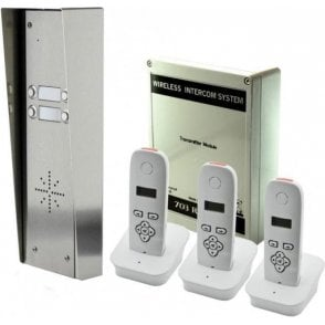 703-HS3 4 button hooded kit with 3 handsets (1 spare button)