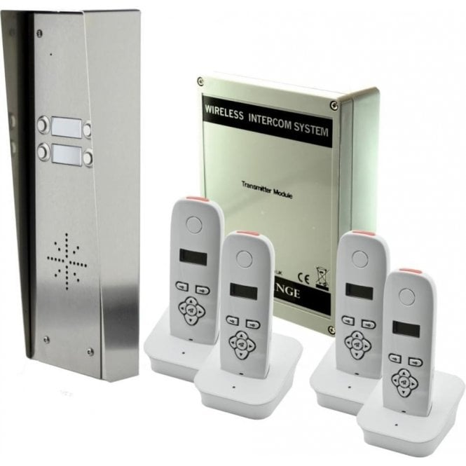 AES 703-HS4 4 button hooded intercom with 4 handsets