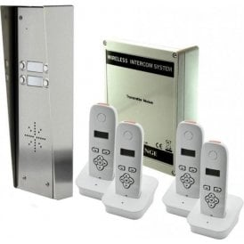 703-HS4 4 button hooded intercom with 4 handsets