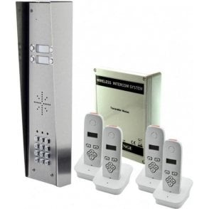 703-HSK4 4 button hooded intercom with 4 handsets