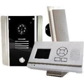 705 HF AB Standard Architectural model with wall mounted video monitor Wireless video intercom