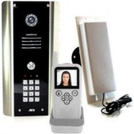 705 HF ABK Architectural Model with Keypad and Wall mounted Video monitor Wireless video intercom