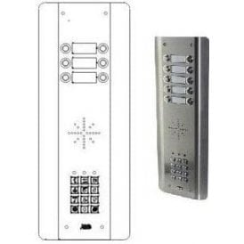 GSM-5ASK6 6 Button PRIME Architrctural Stainless with keypad GSM intercom
