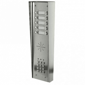 GSM-5HSK10 10 Button PRIME Hooded Stainless GSM Intercom with Keypad
