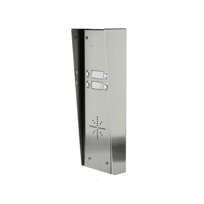 AES GSM-HSK4 4 Button Hooded Stainless GSM intercom with Keypad