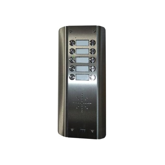 AES GSM Prime 6 AS10 - 10 Button PRIME Architectural Stainless GSM Intercom