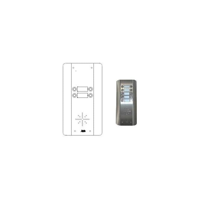 AES GSM Prime 6 AS4 4 Button PRIME Architectural Stainless GSM intercom
