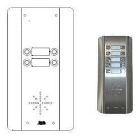 GSM Prime 6 AS4 4 Button PRIME Architectural Stainless GSM intercom
