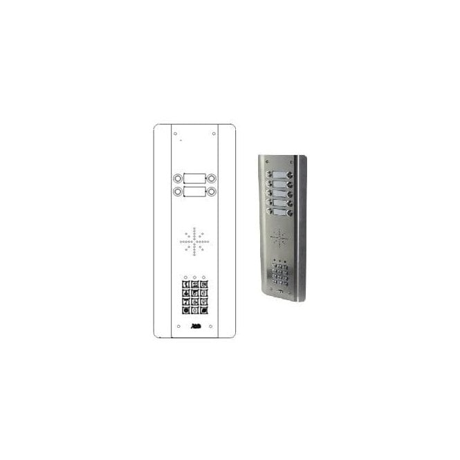 AES GSM Prime 6 ASK4 4 Button PRIME Architectural Stainless with keypad