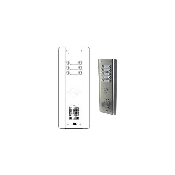 AES GSM Prime 6 ASK6 6 Button PRIME Architectural Stainless with keypad GSM intercom