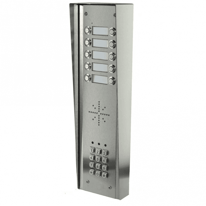 AES GSM Prime 6 HSK10 10 Button PRIME Hooded Stainless GSM Intercom with Keypad