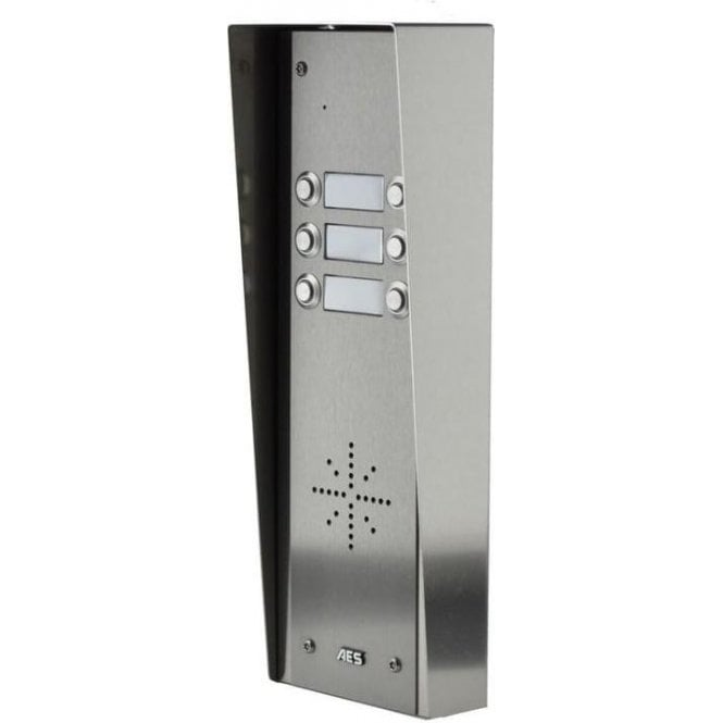 AES GSM Prime 6 HSK6 6 Button PRIME Hooded Stainless GSM intercom with Keypad