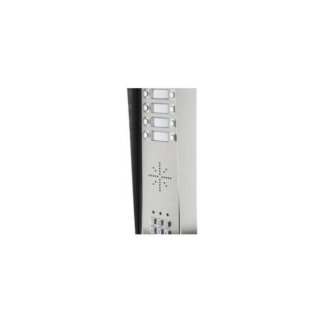 AES GSM Prime 6 HSK8 8 Button PRIME Hooded Stainless GSM intercom with Keypad