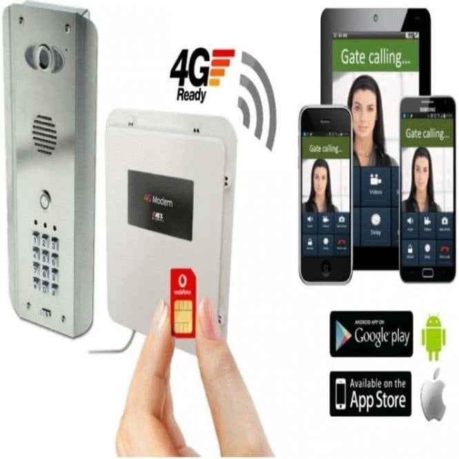 AES PRED2-4GE-ASK Architectural with keypad 1 button 4G GSM Video Intercom.