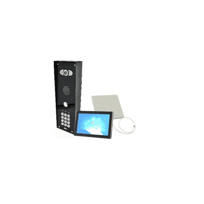AES PRED2-WIFI-IMPK-MONITOR1 Architectural wifi intercom (all stainless design) with keypad - New Wifi Predator Mark 2 - with 1 monitor