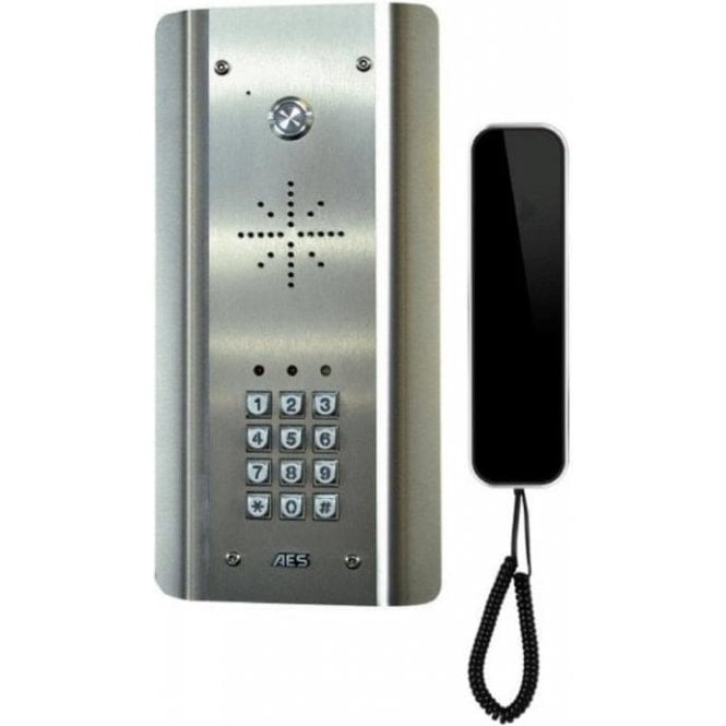 AES SLIM-CL-ASK Slim Hardwired Audio Architectural Kit (all stainless) with keypad