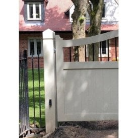 1x Galvanised and Powder Coated Gothic Steel Gate Post