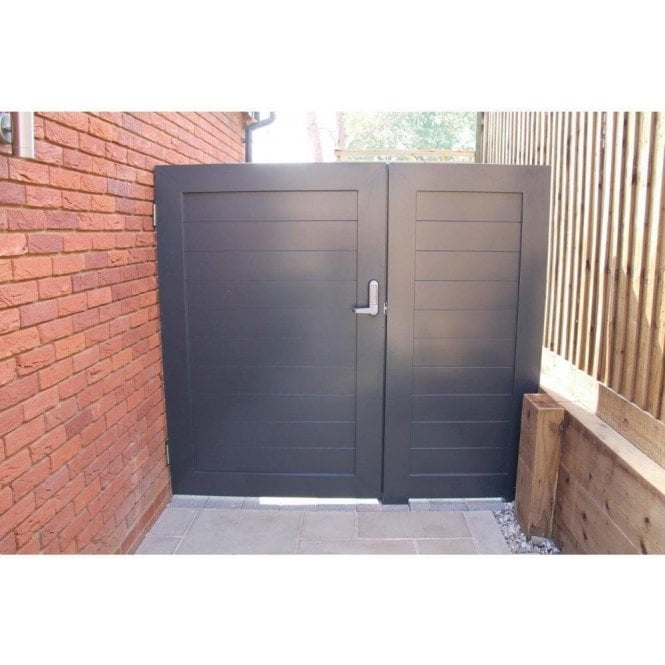 Arden Gates Aluminium Pedestrian Gate With side Panel