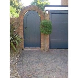 Curley Aluminium Side gate with arched top