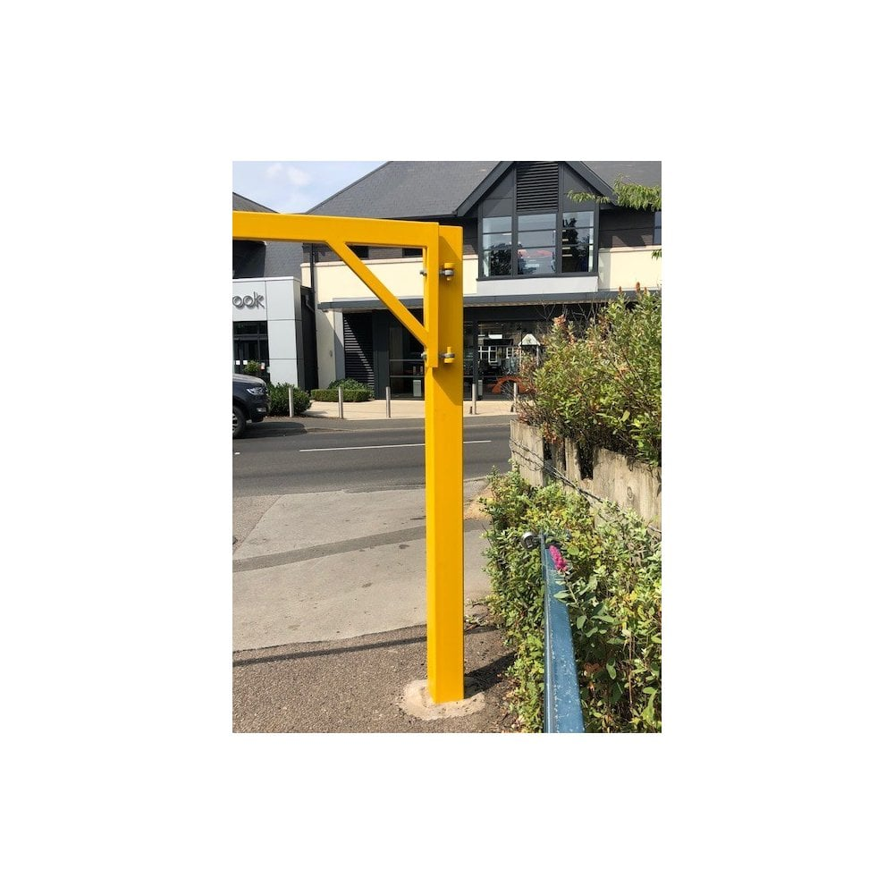 Gate swinging restriction height