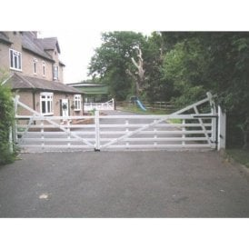 Arden Gates The Benton Aluminium 5 bar estate stlye gate