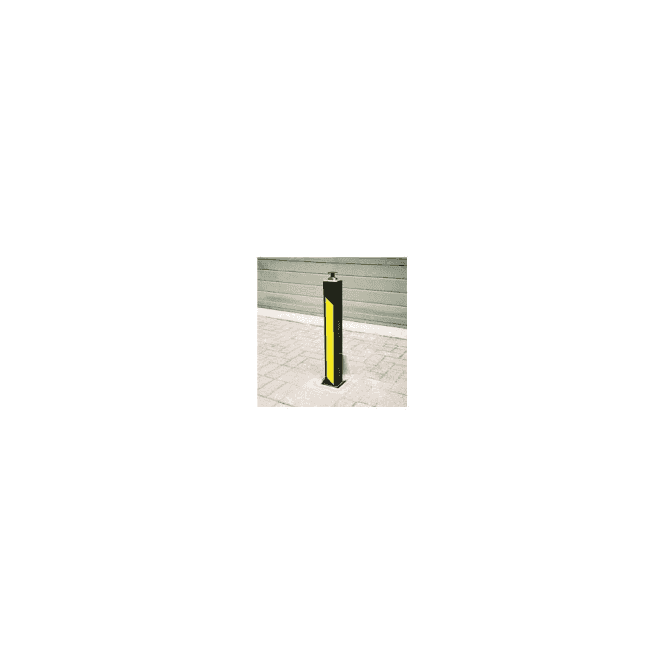 ATG CONTROL 90 Square manual retractable bollard - List assist model