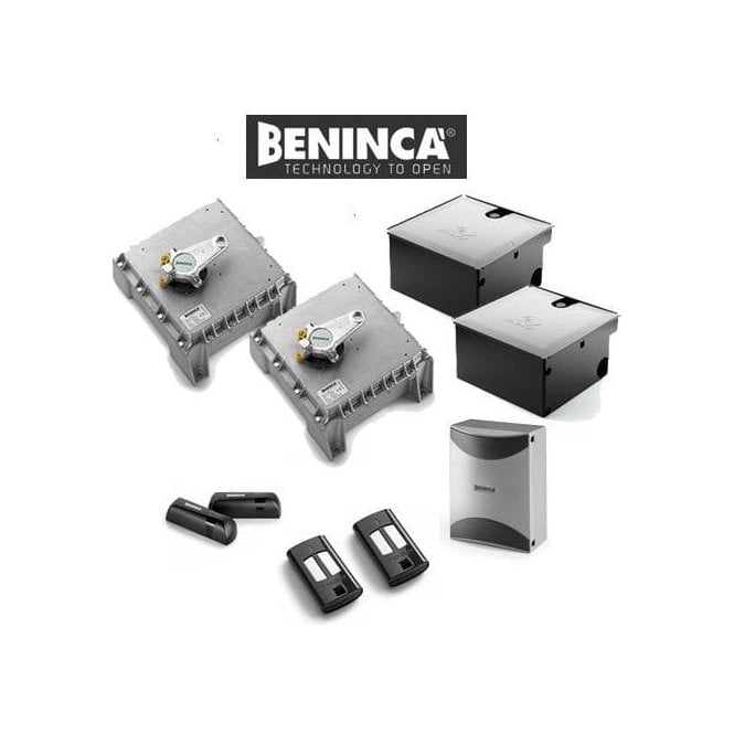 BENINCA KDU.350NVE 230v Heavy duty Electro mechanical underground operator pair kit