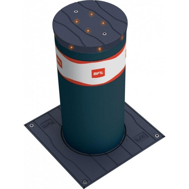 BFT STOPPY 500 MBB - 500 x 220 Electromechanical automatic bollard c/w LED light crown - Supplied with Perseo control panel