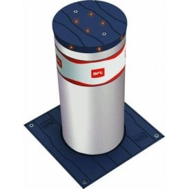 STOPPY 500 MBB INOX - 500 x 220 Electromechanical automatic bollard in stainless steel c/w LED light crown - Supplied with Perseo control panel