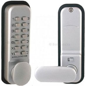 BL2201 Borg Locks SC Thumbturn, keypad, inside paddle handle, optional holdback, 60mm latch