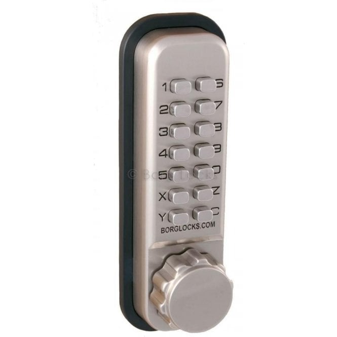 Borg Locks BL2501 Codestar Knurled knob keypad, inside paddle handle, optional holdback, 60mm latch