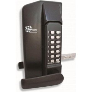 BL3430 Metal Gate Lock With Lever Handle Keypad Both Sides