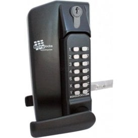 BL3430DKO Metal Gate Lock With Lever Handle Keypad Both Sides With Key Override