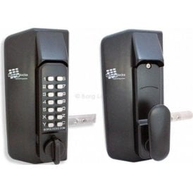 Metal Gate Lock With Keypad One Side, Plain Inside handle