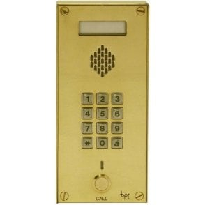 BPT UK Classic Brass GSM Plus+ 1 Button GSM with keypad