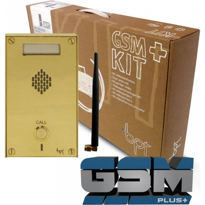 BPT UK Classic Brass GSM Plus+ 1 Button GSM kit
