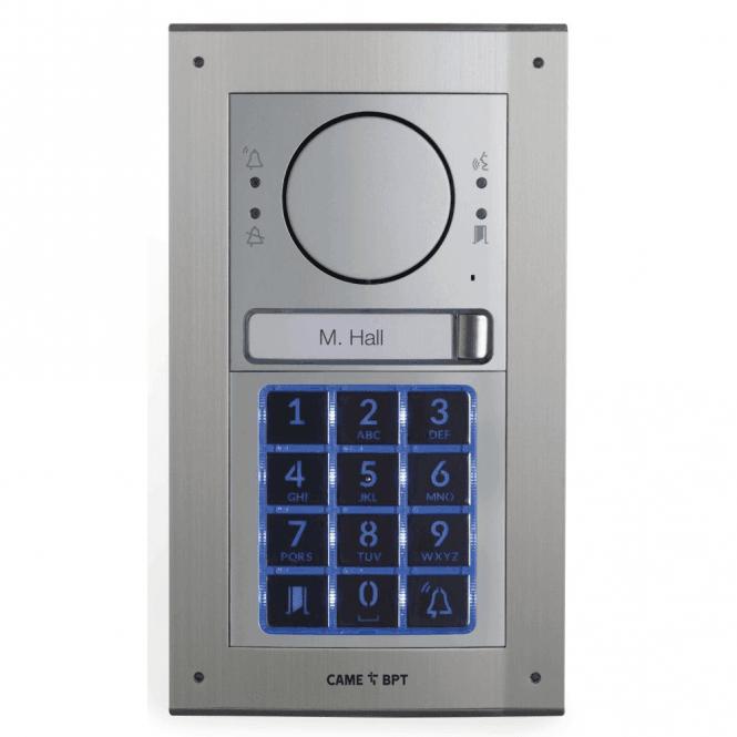 BPT UK MTMFKGSM1 - Flush mount 1 button intercom kit with keypad