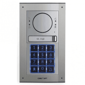MTMFKGSM1 - Flush mount 1 button intercom kit with keypad