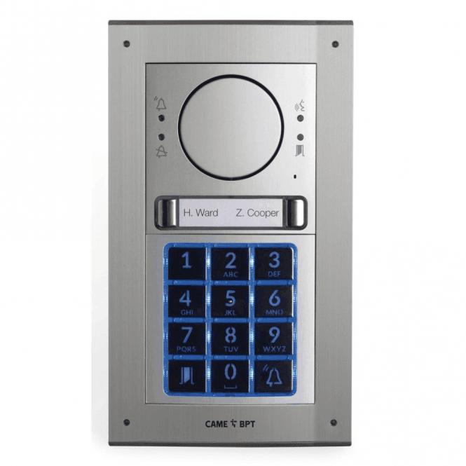 BPT UK MTMFKGSM2D - Flush mount 2 button GSM intercom kit with keypad