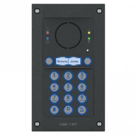MTMFVRKGSM2D - Flush mount Vandal Resistant 2 button audio GSM intercom kit with keypad