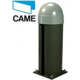 CAT-X24 24v Bollard with operator featuring an on-board control panel