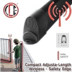 CCE safety CC-16 Radio TX EASY FIT Cut-able resistive safety edge with integrated wireless sender 1600mm long can be cut to size