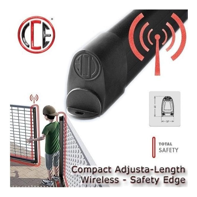 CCE safety CC-25 Radio TX EASY FIT 2.5M Cut-able resistive safety edge with integrated wireless sender