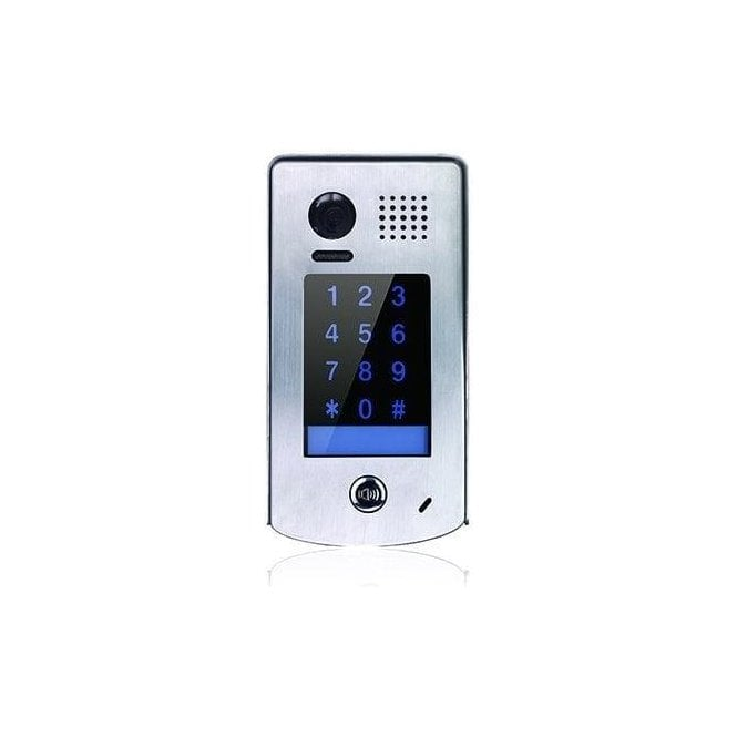 CDVI 1 Button Surface Stainless Steel Door Panel - With Integral Keypad
