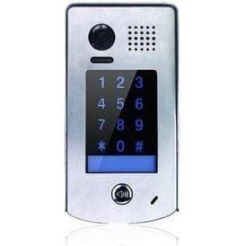 1 Button Surface Stainless Steel Door Panel - With Integral Keypad