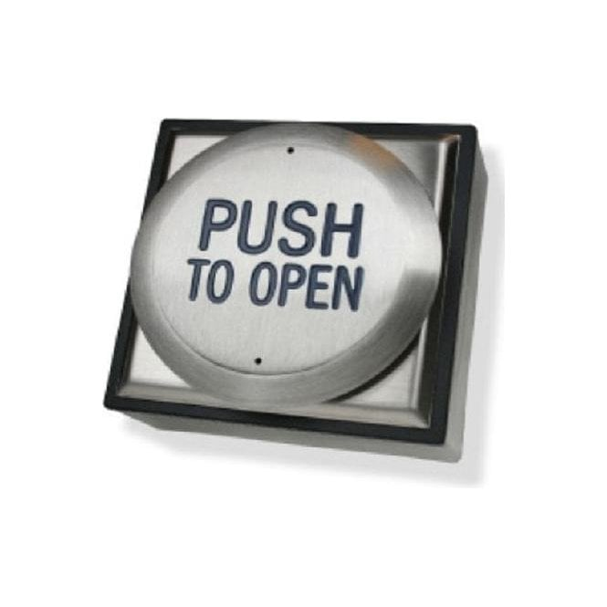 "CDVI All-Active Switch - ""Push to Open"", Flush"