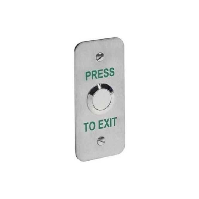 CDVI Architrave Stainless Exit Button, Flush